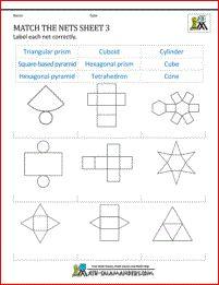 1000+ images about 3D Shape Worksheets on Pinterest | 3d Shapes ...