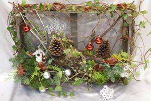 kerst workshop - gaasbak met kerststuk voor buiten - christa snoek