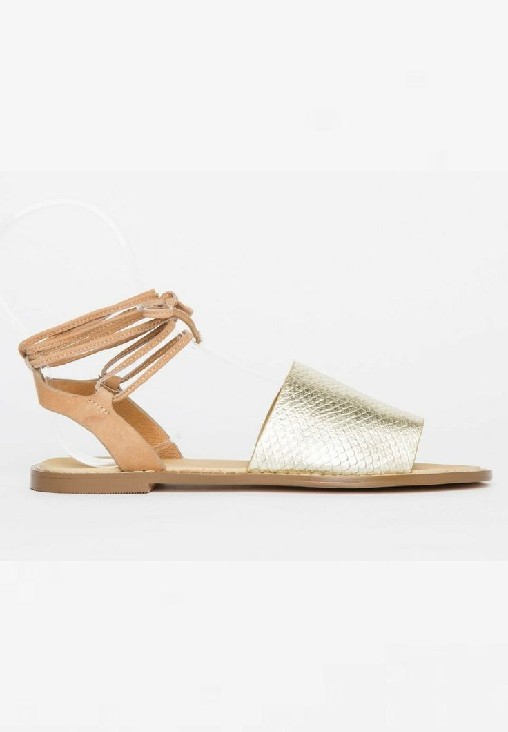 Hael and Jax - Moss Sandals In Gold