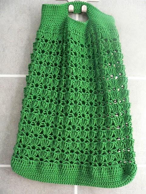 crochet shopping bag.