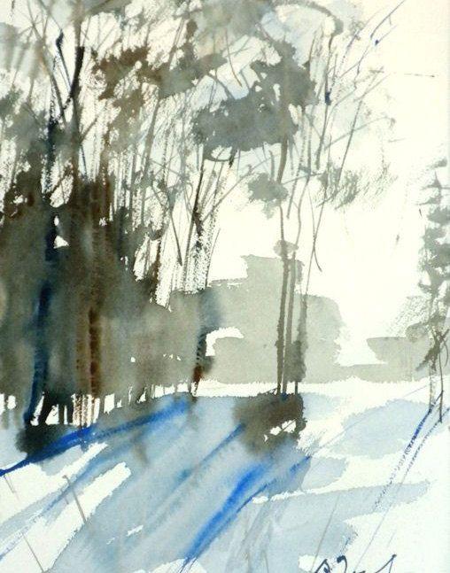 Nueva Inglaterra invierno-Scape No.68 por WaterWorksbySumiyo