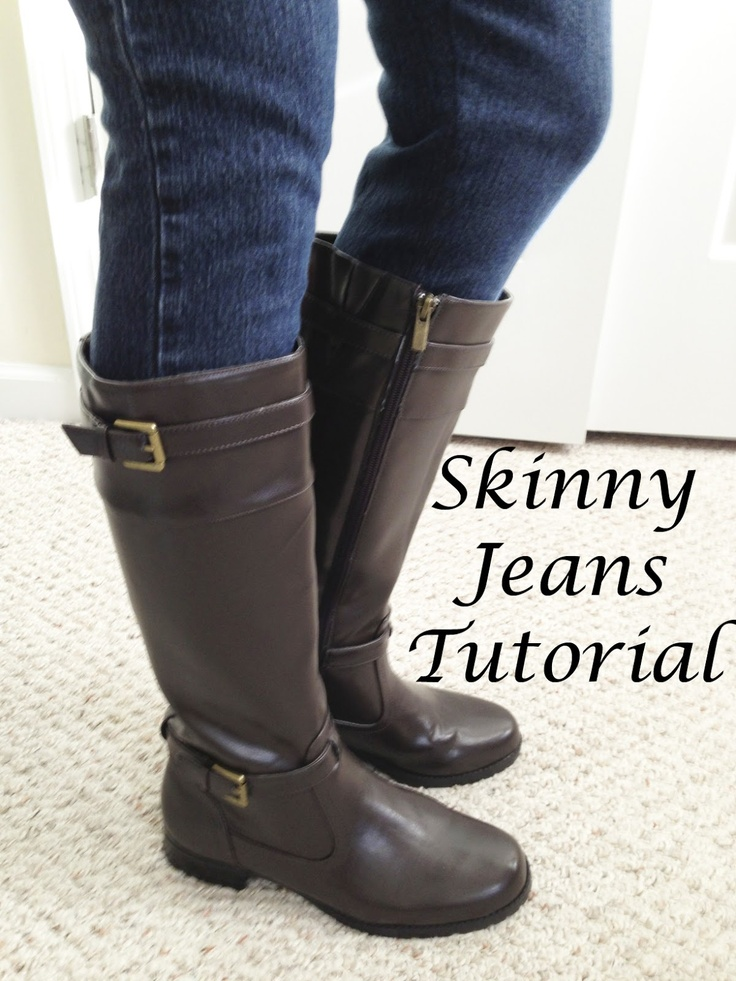 Skinny Jeans Tutorial - turn straight leg jeans into skinny jeans to tuck into boots