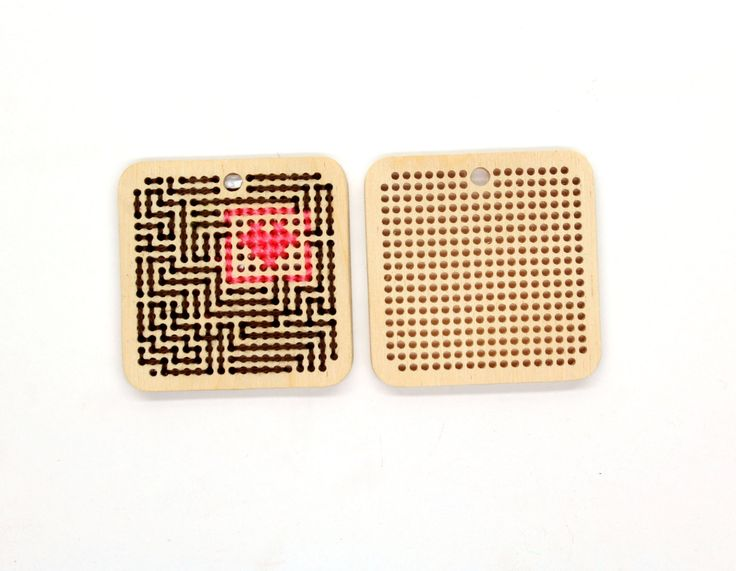 DIY kit Wooden cross stitch embroidery blanks by TinyLizardGifts