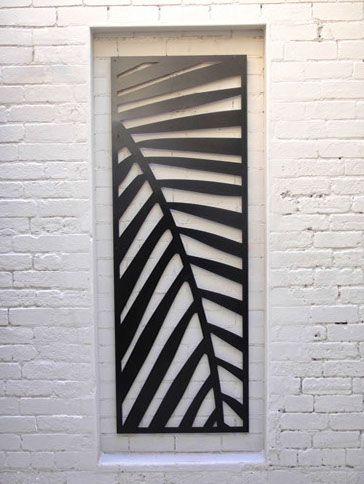 Laser Cut Metal Artwork - Palm Frond