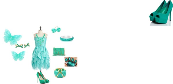 """MoDa Verde Acqua"" by asiapirozzi ❤ liked on Polyvore"