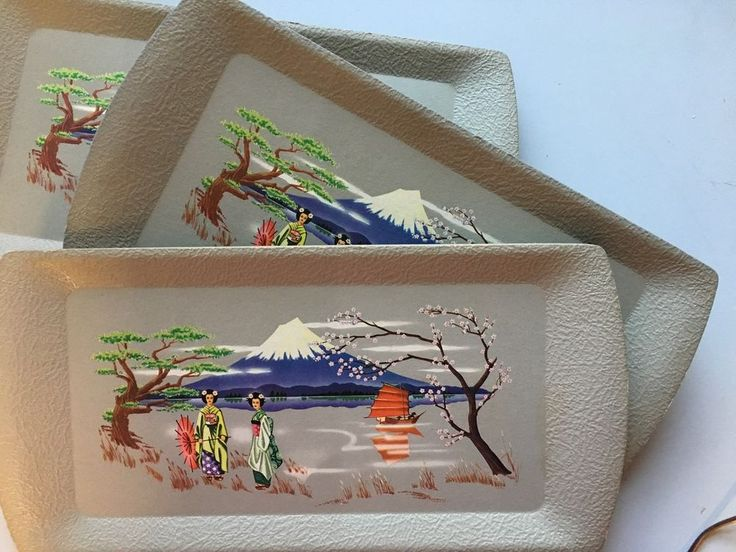 Set of Eight Kentley Asian Serving Trays