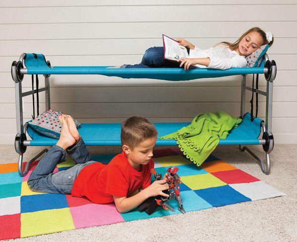 Ce lit superposé pliable qui est une distance beaucoup plus sûr à partir du sol: