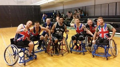 The UK sitting volleyball team!