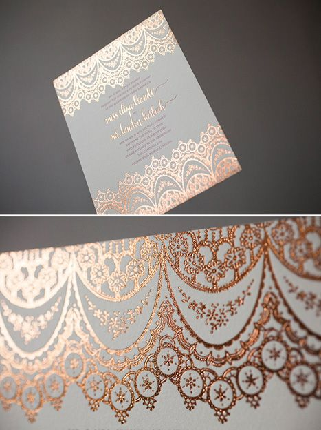 The New Warmer Metallics For Wedding Stationery