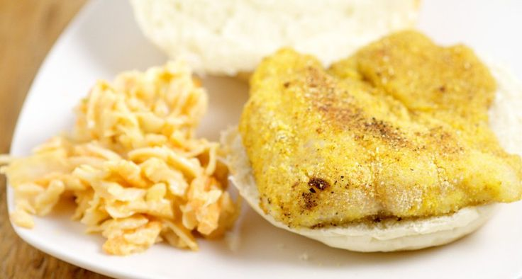 Southern Fried Catfish Recipe - Cornmeal coated Southern Fried Catfish Recipe, pan-fried to golden perfection. Serve it on a bun with our Spicy Slaw recipe or use it as a traditional family meal by itself. Makes a super quick and easy family dinner recipe idea