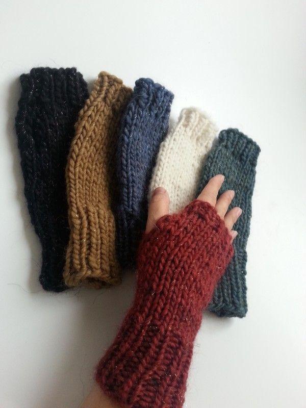 6 Farben traumhafte Stulpen Handstulpen Handschuhe size natur schwarz rot blau grün braun