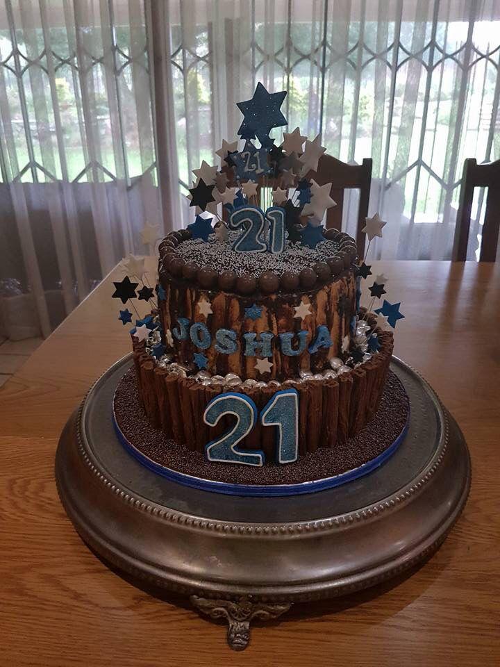 21st birthday cake for our eldest Grandchild, Joshua
