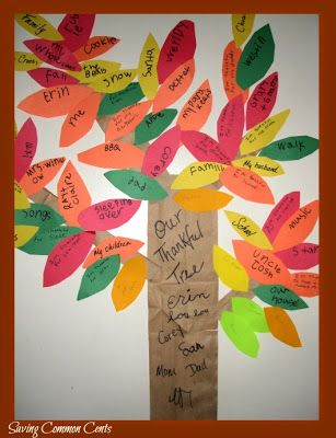 A Thankful Tree...cute kids craft for Thanksgiving! @Saving Common Cents
