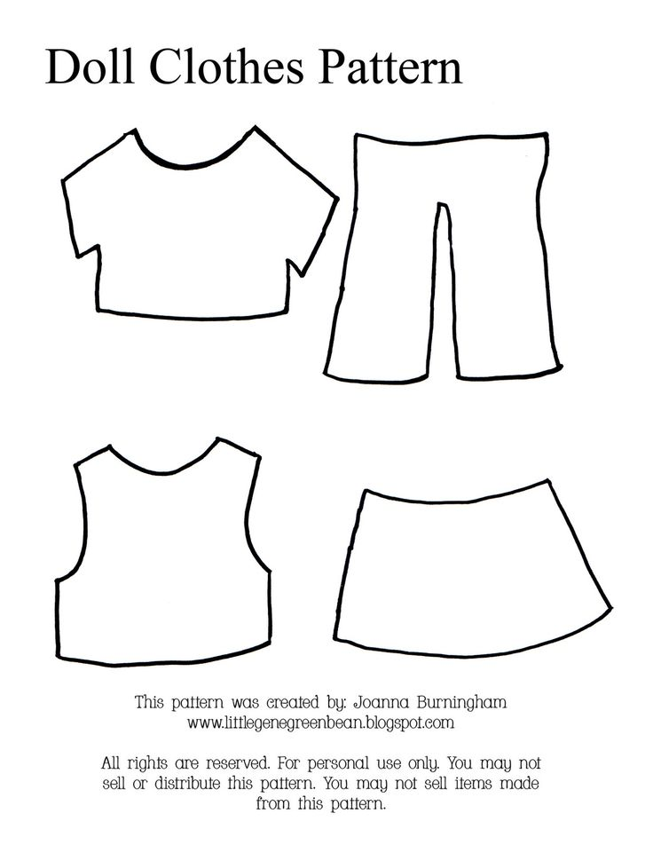 Free printable doll clothes patterns thanks for looking for Felt dress up doll template