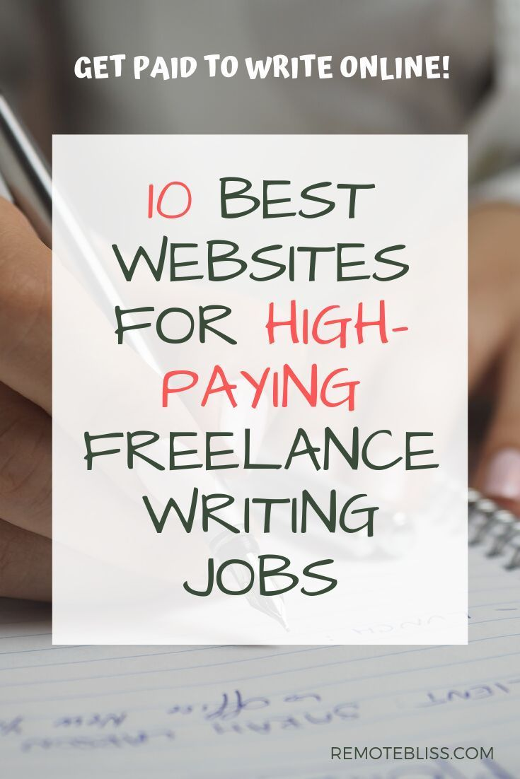10 Sites With The Best Paying Freelance Writing Jobs Remote Bliss Freelance Writing Freelance Writing Jobs Writing Jobs
