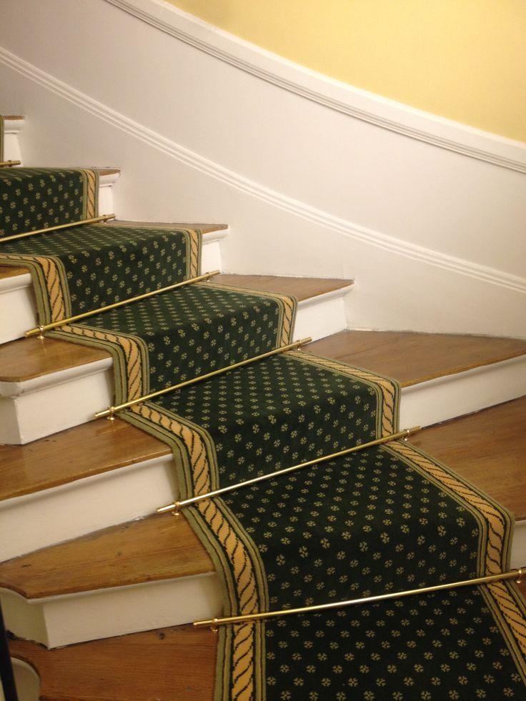 Tapis d'escalier 2 GRILS et tringlerie laiton