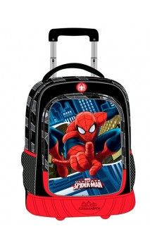 Mochila Trolley Spiderman Blue City 2 ruedas