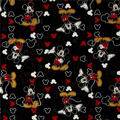 Picture of disney mickey and icons mickey mouse toss on for Children s character fabric