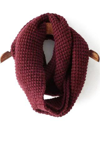 Chic Solid Color Knitted Infinite Scarf For WomenScarves   RoseGal.com