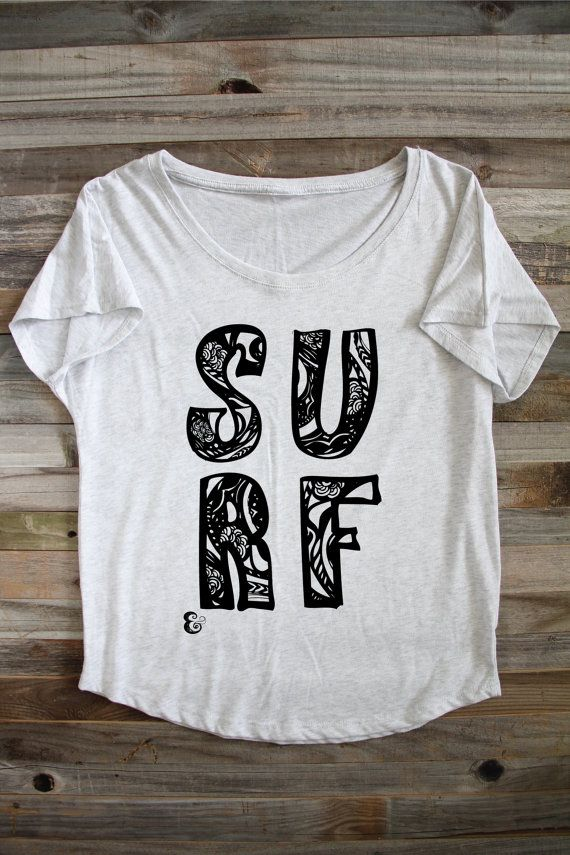 Surf Shirt  Beach Shirt  Flowy Shirt  Flowy Beach by PowderAndSea