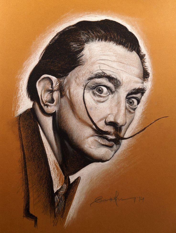 """Arte y Animación Carolum Art"": Salvador Domingo Felipe Jacinto Dalí i Domenech. Retrato a lápiz"