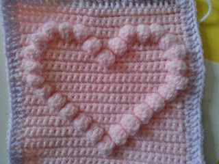 Crochetsnugglies: Bobble Heart Pattern...looks great in an afghan!!