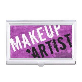 Makeup Artist Cosmetologist Cosmetology Modern Business Card Case