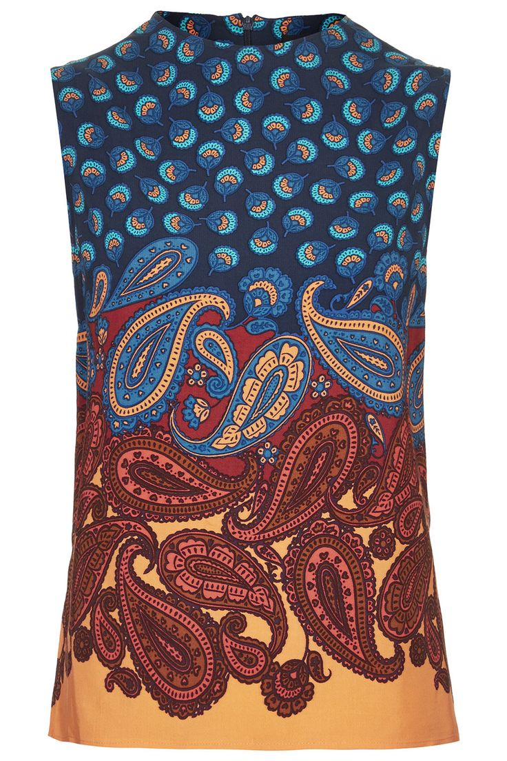 Paisley Border Print Shell Top - New In This Week - New In - Topshop
