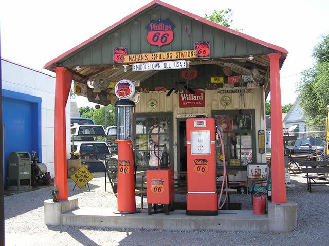 Gas Station Gas Station Gasstation Phillips66 66 Old