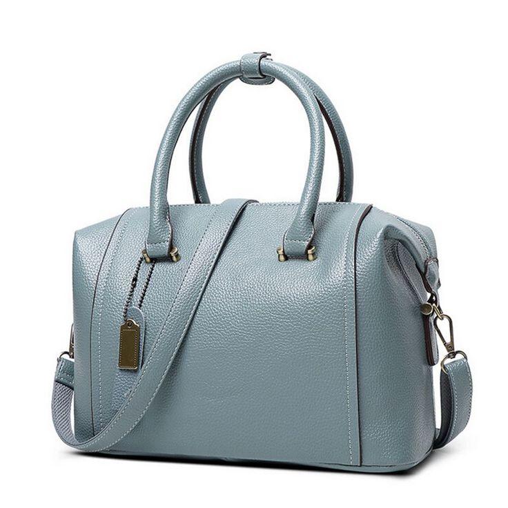 $42.80 (Buy here: https://alitems.com/g/1e8d114494ebda23ff8b16525dc3e8/?i=5&ulp=https%3A%2F%2Fwww.aliexpress.com%2Fitem%2FGenuine-Leather-Women-s-Boston-Bag-2016-New-European-Boston-Handbag-Solid-Color-Cowhide-Women%2F32599372158.html ) Genuine Leather Women's Boston Bag 2016 New European Boston Handbag Solid Color Cowhide Women Messenger Bag sac a main C40-391 for just $42.80