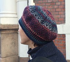 Top down knitted Beret designs by Tone Takle