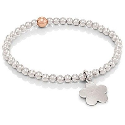Nomination Elba Silver Rose Gold Plated Flower Bracelet 142512-0 003