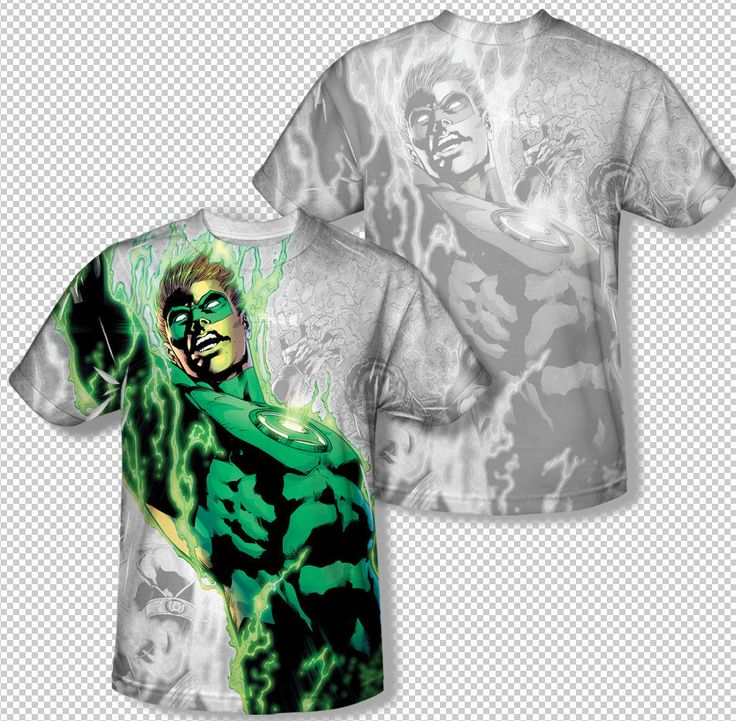 Green Lantern Hal Jordan Energy Surge All Over Sublimation Youth T-shirt Top Youth Sizes: S, M, L, XL