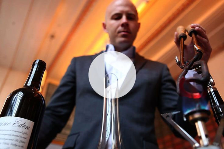 """Is Wine """"Tonging"""" the New Sabering. Watch This Crazy Way To Open Wine. #wine"""
