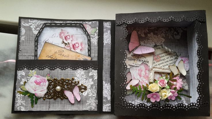Scrapstund: Nytt bok kort i svart och rosa Made By Jennie Bengtsson