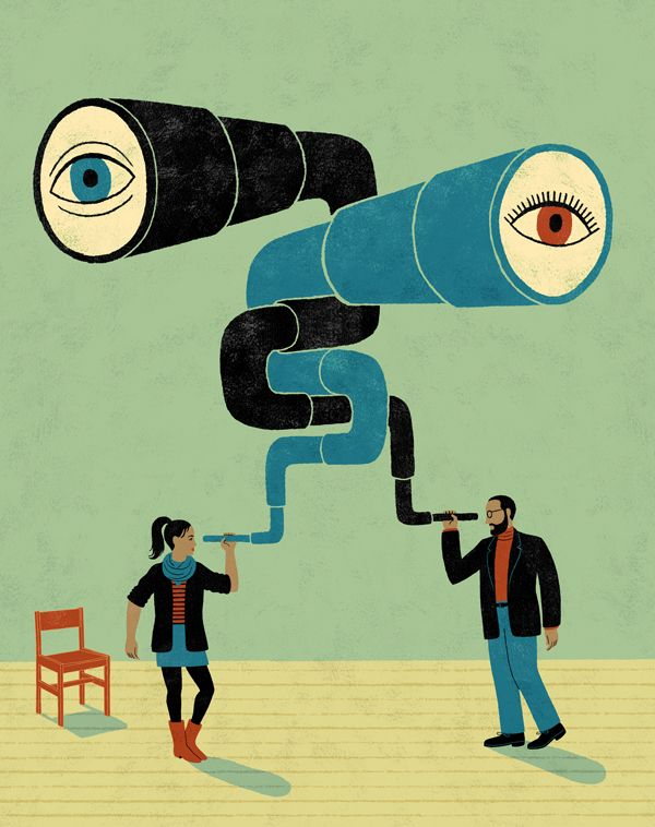Eye to Eye #illustration © James Steinberg