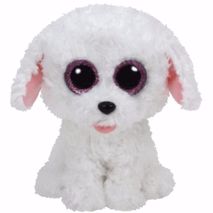 "Details about Ty Beanie Boos 6"" - Pippie the White Dog Regular Size Soft Toy Boo…"