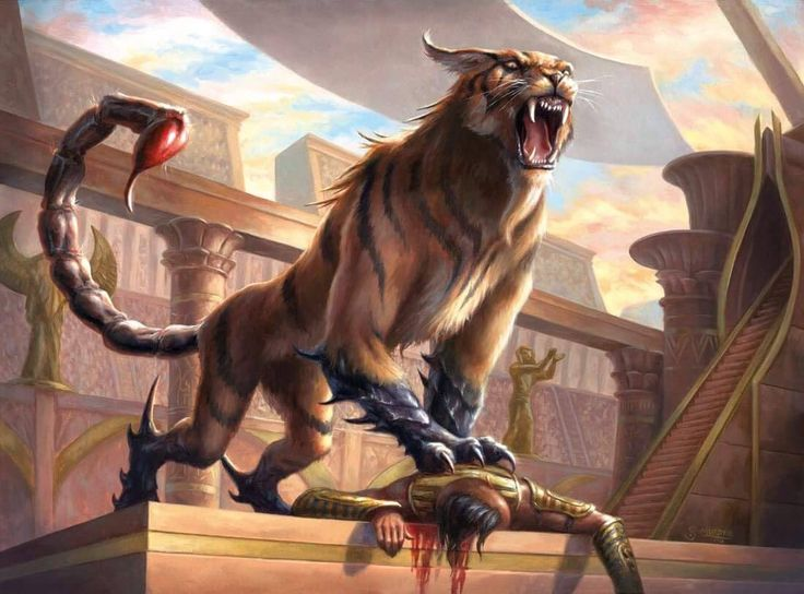 Heart-Piercer Manticore - Amonkhet MtG Art, Dungeons and Dragons, DnD, D&D