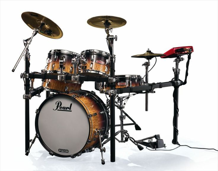 PEARL E-pro live - cymbales laiton - quilted maple fade - Batteries electroniques - Batteries électroniques | Woodbrass.com