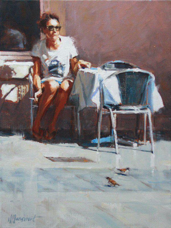 Waiting for a friend | painting by Richard van Mensvoort
