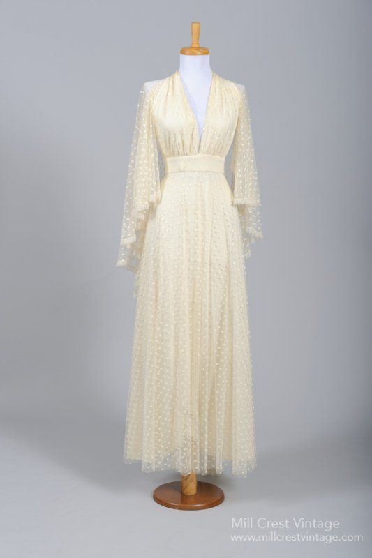 1970s Vintage Wedding Dress from Mill Crest Vintage
