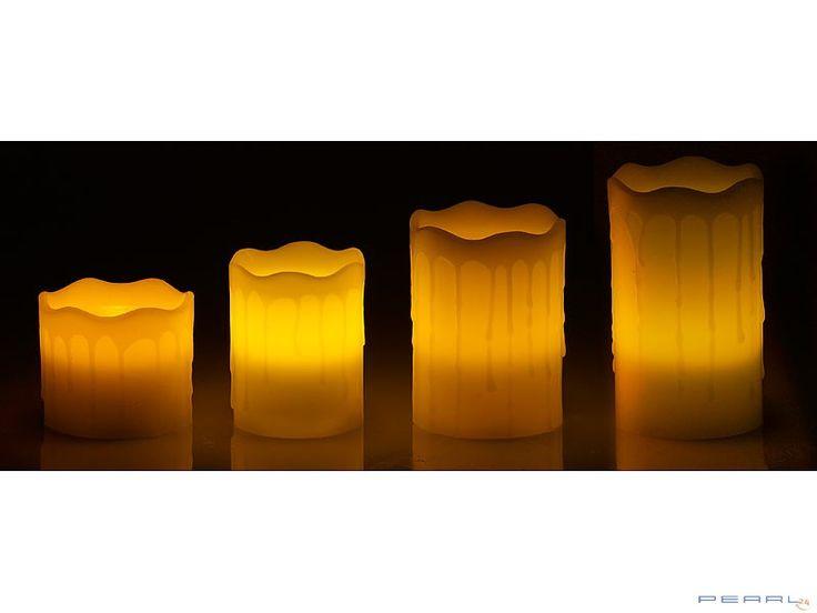 Bezpieczne świece o różnych wymiarach z poruszającym się płomieniem!  #dekoracje #świece #dom