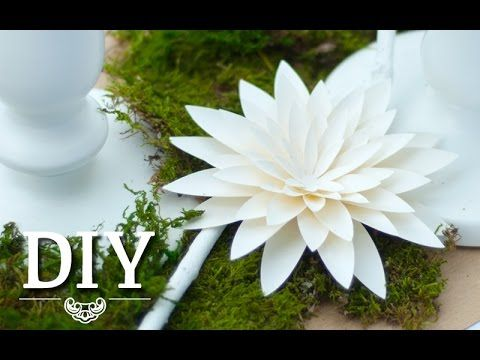 DIY: Hübsche Dahlien aus Papier selber machen, Deko Kitchen, My Crafts and DIY Projects
