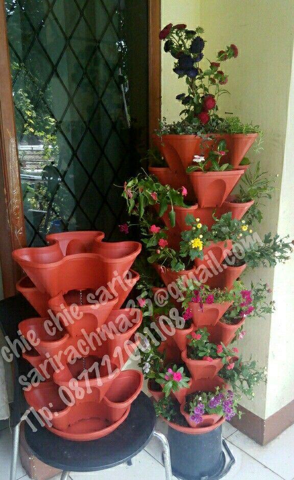 Vas bunga susun 5 bisa untukntanam biasa atau untuk hidroponik.