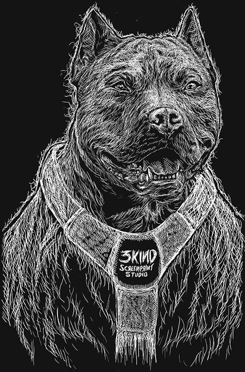 #3kindstudio #pitbull #dogtees #doglover
