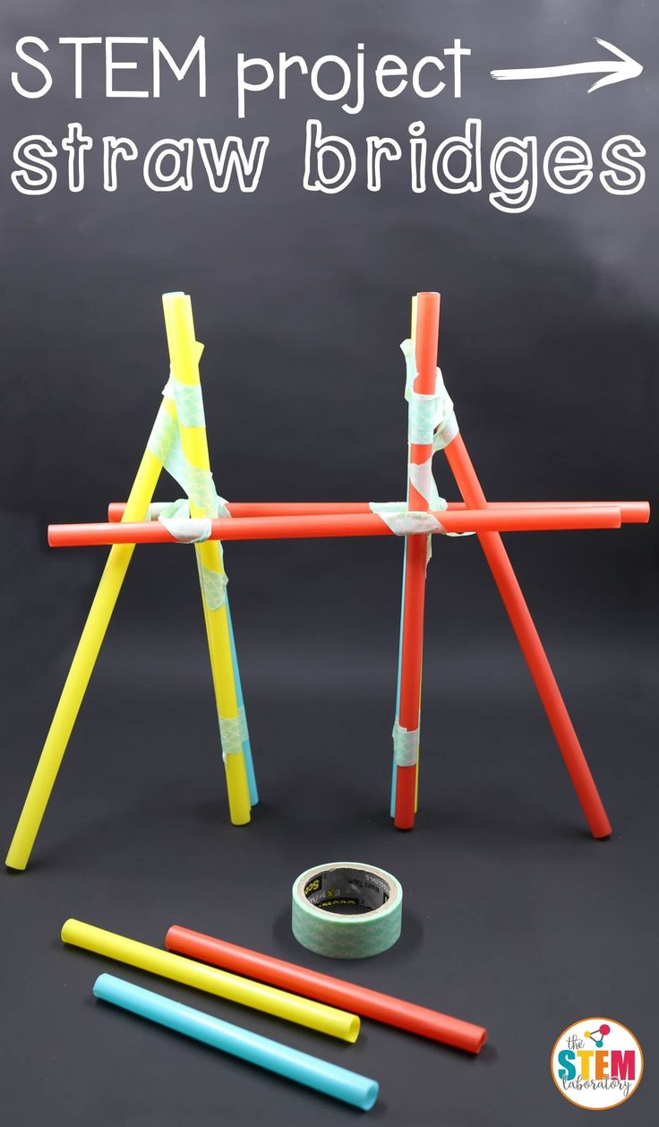 What a fun STEM project for kids! Build straw bridges to learn about engineering! A great activity for STEM centers or makerspaces!  #steam #engineering #theSTEMLaboratory