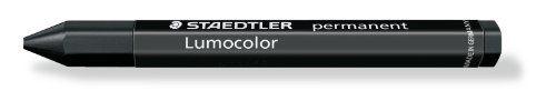 Staedtler Lumocolor Permanent Omnigraph 236-9 Smudgeproof Universal Marking Crayon - Black (Pack of 12)
