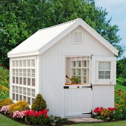 102 best images about backyard storage sheds on pinterest for Shed guest house kit