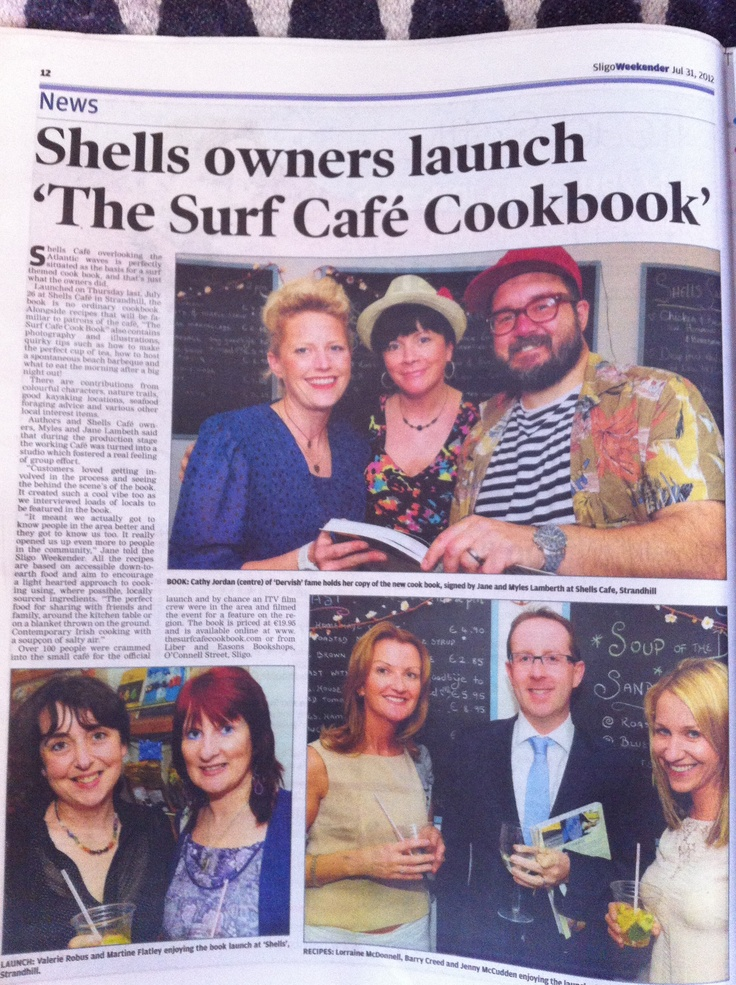 The Surf Cafe Cookbook launch at shells
