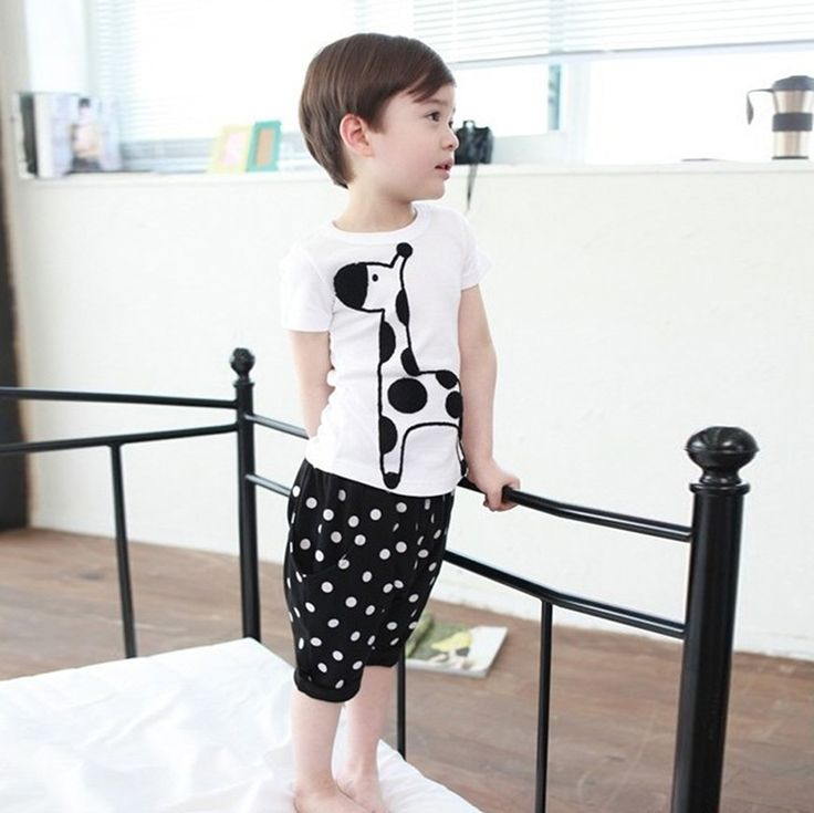 Newest Toddlers Boy Baby Giraffe Print Tops Shirt + Dots Short Pants Set Clothes Costume 2PCS-in Clothing Sets from Mother & Kids on Aliexpress.com | Alibaba Group